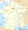 Strecke der LGV Bordeaux-Toulouse