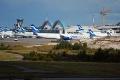 Helsinki-Vantaa airport Finnair planes.jpg