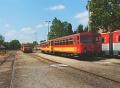 Lakitelek állomáson egyszerre keresztezneka 4 irányból érkező vonatok