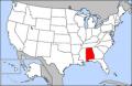 Map of USA highlighting Alabama.png