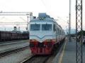 Villamosmozdony Podgorica állomáson