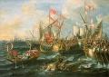 Az actiumi csata, Lorenzo A. Castro, 1672.